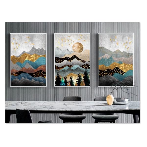 Decal dán tường bộ 3 khung tranh đẹp Tipo_0202