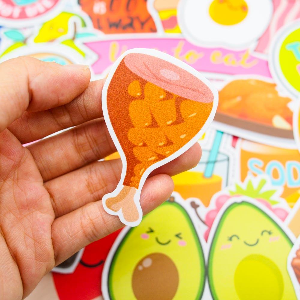 Set 100 sticker hình dán - Food and drink