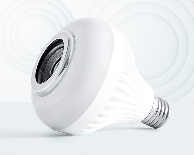 Bóng đèn kiêm loa nhiều màu ( LED Music) cao cấp, phát đủ màu liên tục nghe nhạc hay kết nốt bluetooth dễ dàng sử dụng