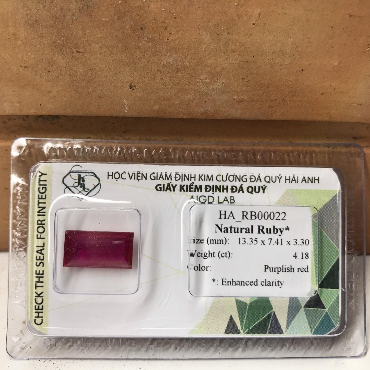 Viên đá Ruby thiên nhiên_HA-RB00022