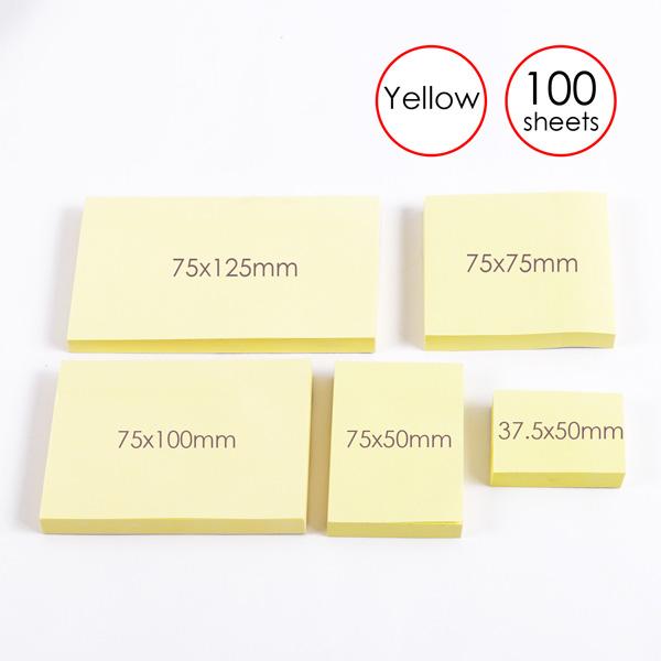 Combo 5 Tập Giấy note vàng 1.5x2 Foska G1520
