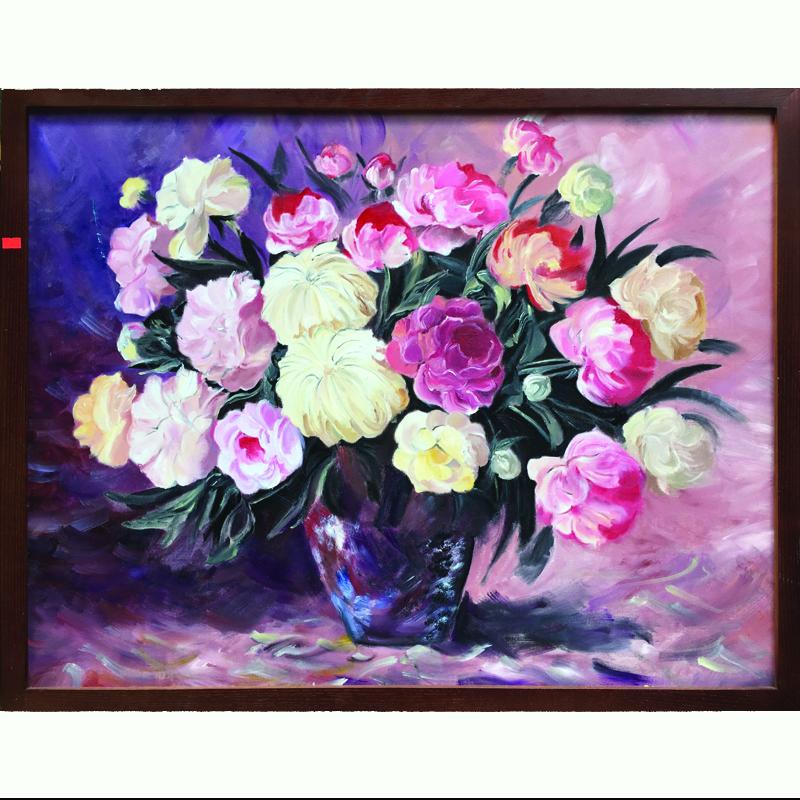 Tranh sơn dầu vẽ tay Hoa mao lương OP010