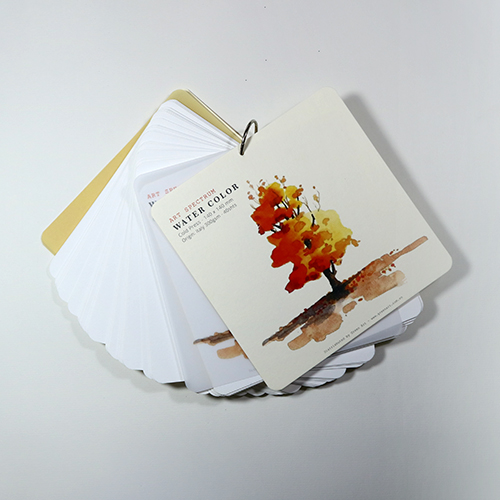 Giấy vẽ màu nước vẽ lên màu đẹp, giấy dày 40 tờ bo 4 góc kích thước (14 x 14) cm (Bìa màu vàng)
