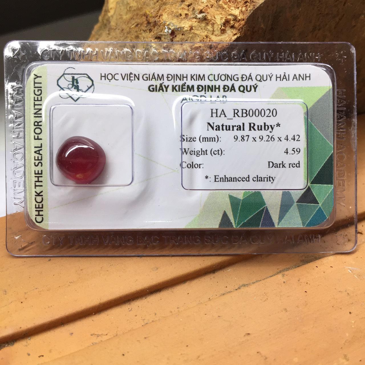 Viên đá Ruby thiên nhiên_HA-RB00020