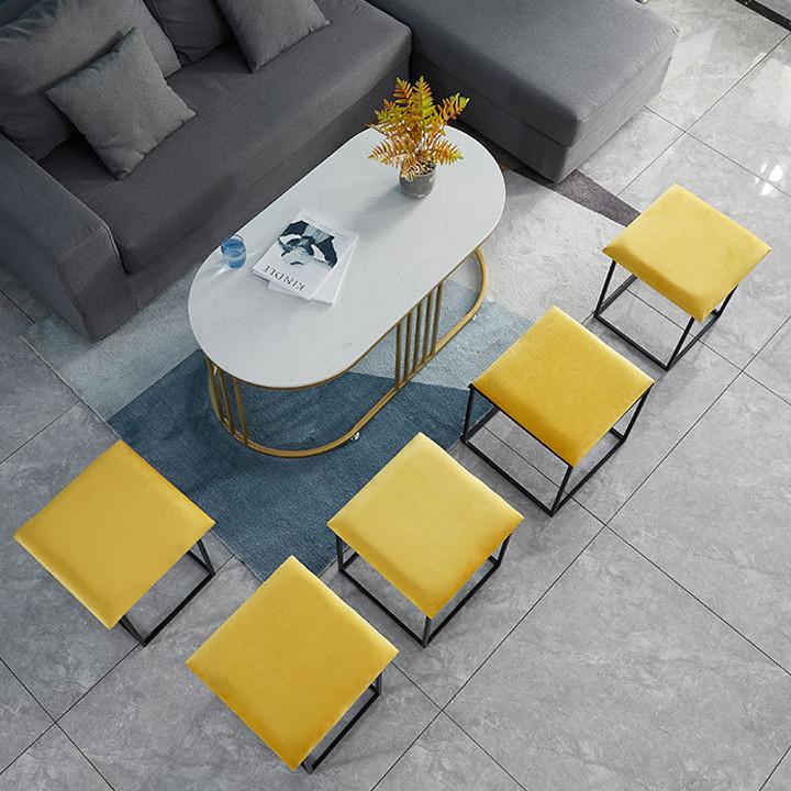 Ghế khối rubik - Ghế xếp thu gọn hình vuông - Ghế đôn thu gọn gồm 5 ghế - Ghế sofa phòng khách khối rubik cao cấp
