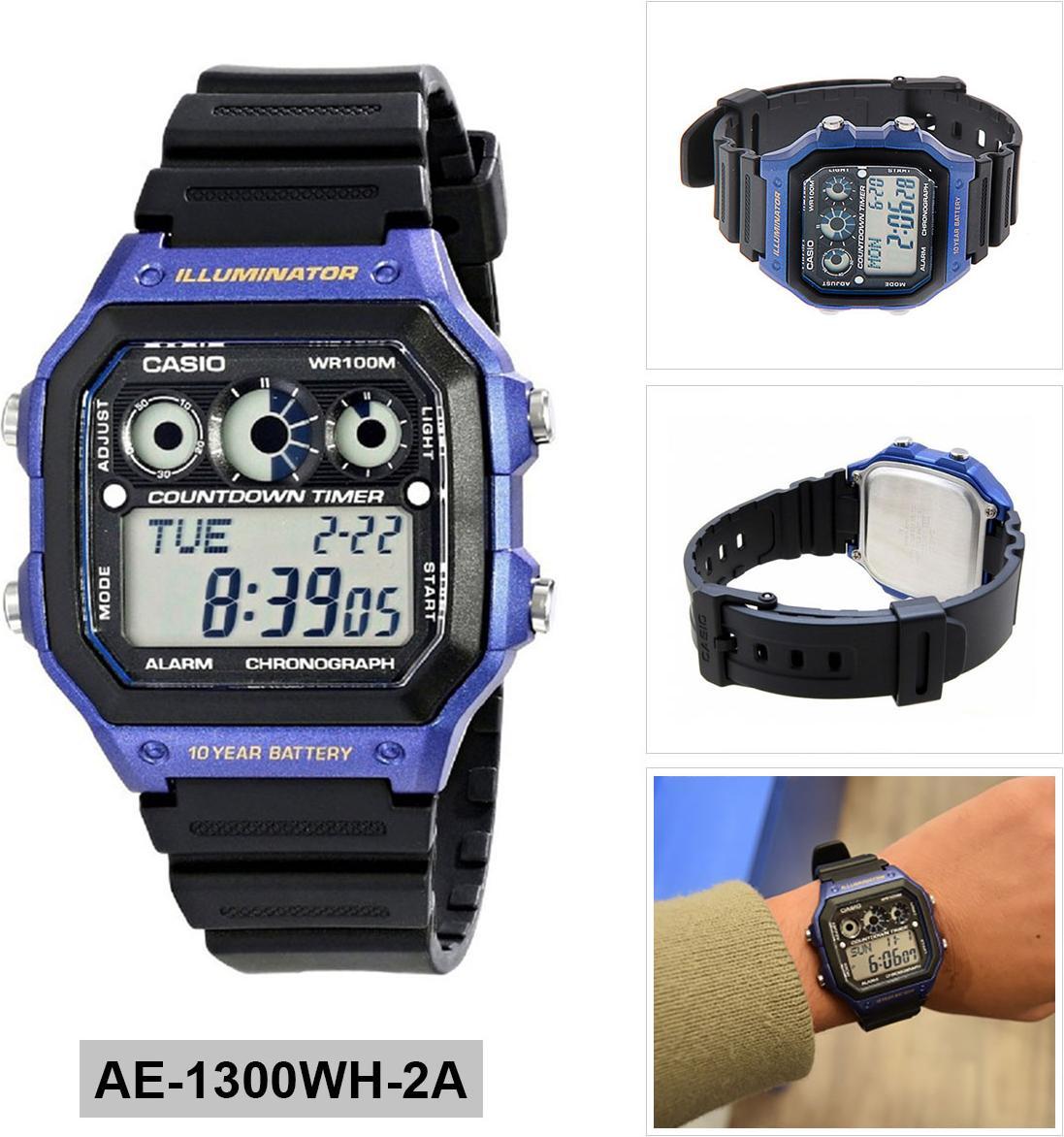 Đồng hồ nam dây nhựa Casio AE-1300WH-2AVDF