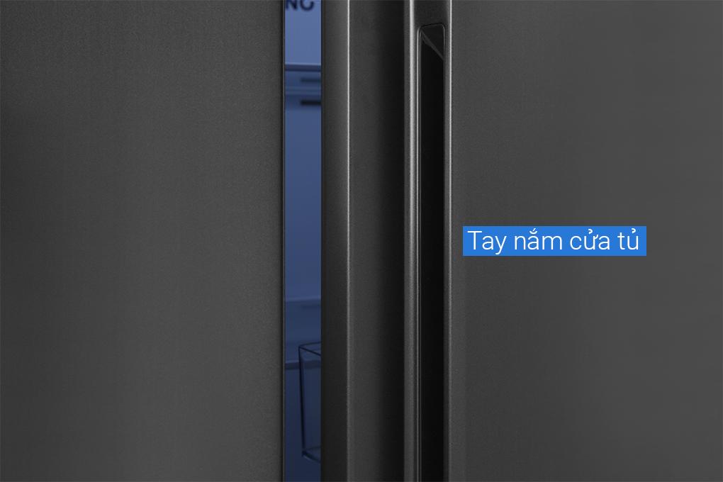 Tủ lạnh Aqua AQR-S541XA.BL 2 cửa màu đen kháng khuẩn, Twin inverter - Hàng chính hãng - chỉ giao tại Hà Nội