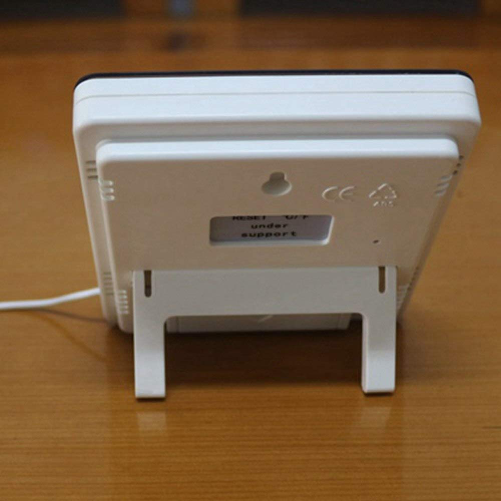 Đồng Hồ LED Đo Độ Ẩm Nhiệt Độ Để Bàn Có Dây Cảm Biến Trong Ngoài HTC2