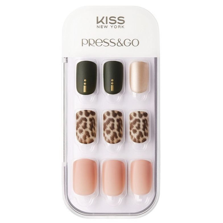 Bộ 30 Móng Tay Gel Dán Press & Go Kiss New York Nail Box - Savanna (KPNA24KA)