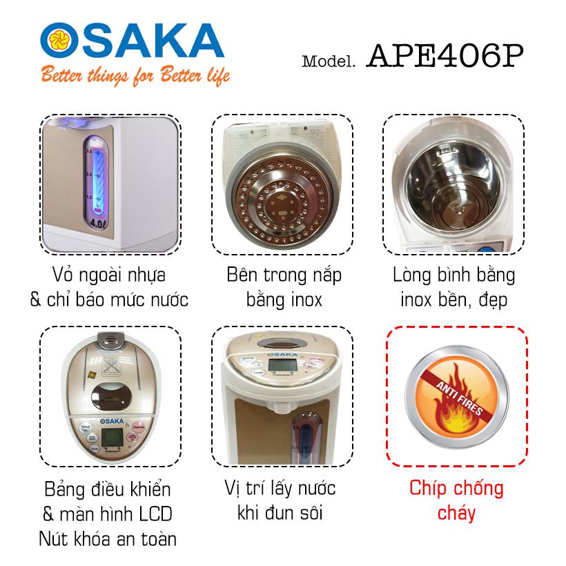 Bình Thủy Điện Cao Cấp Osaka APE406P