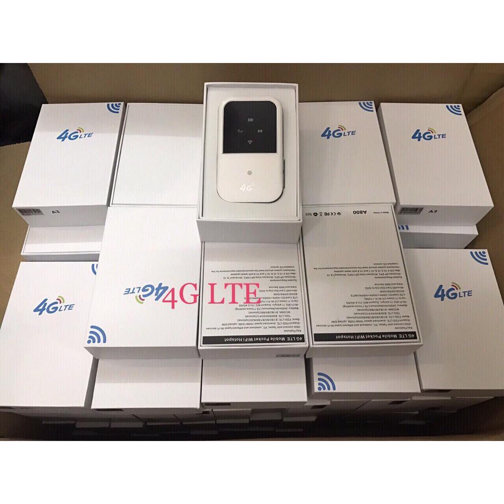 Thiết bị phát sóng wifi từ sim 3G/4G LTE A800 - Sử dụng liên tục 7h (Trắng)
