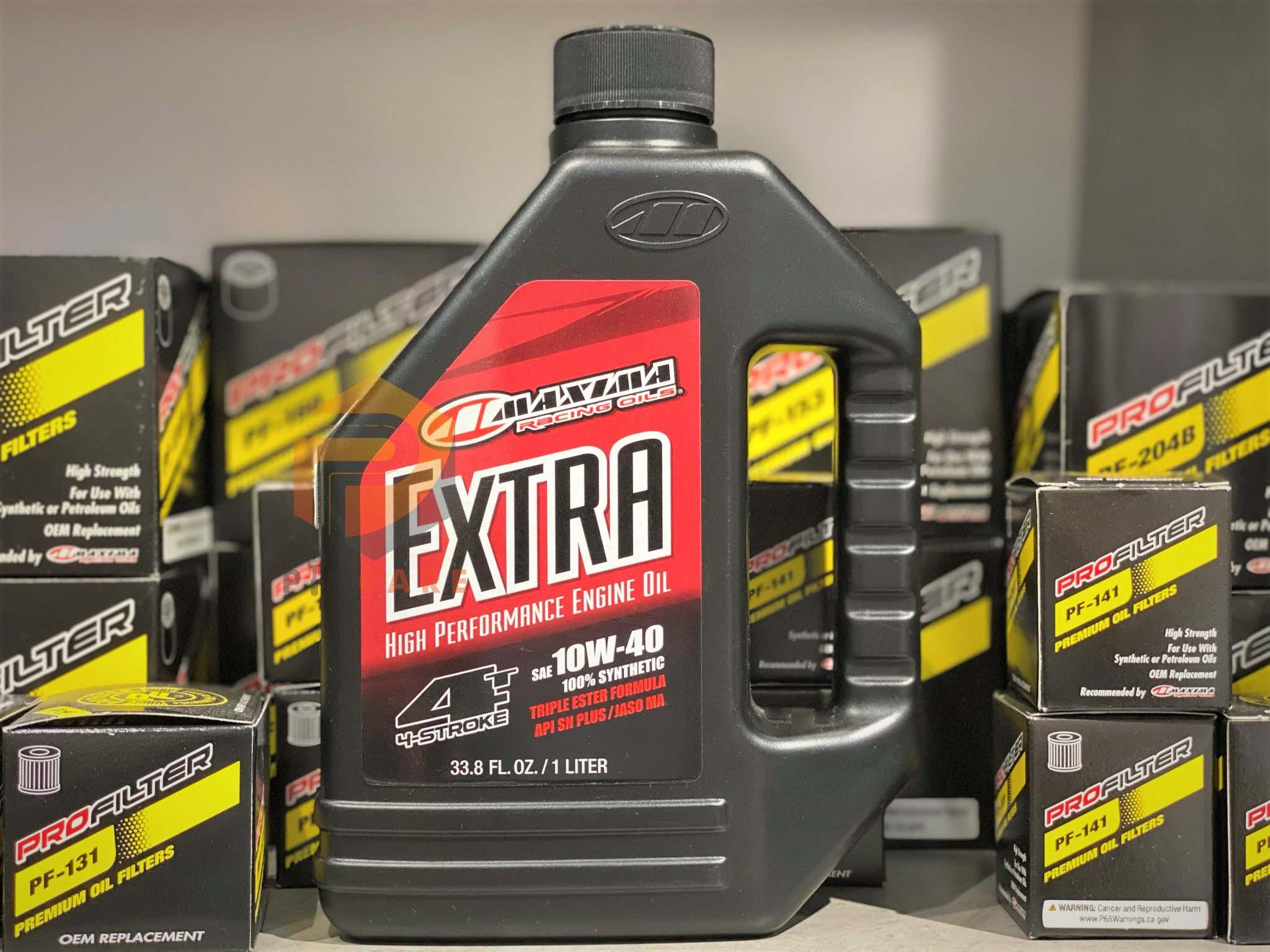 Nhớt xe máy xe tay côn động cơ 4 thì Maxima Extra 10W40 100% Synthetic (có chiết lẻ)