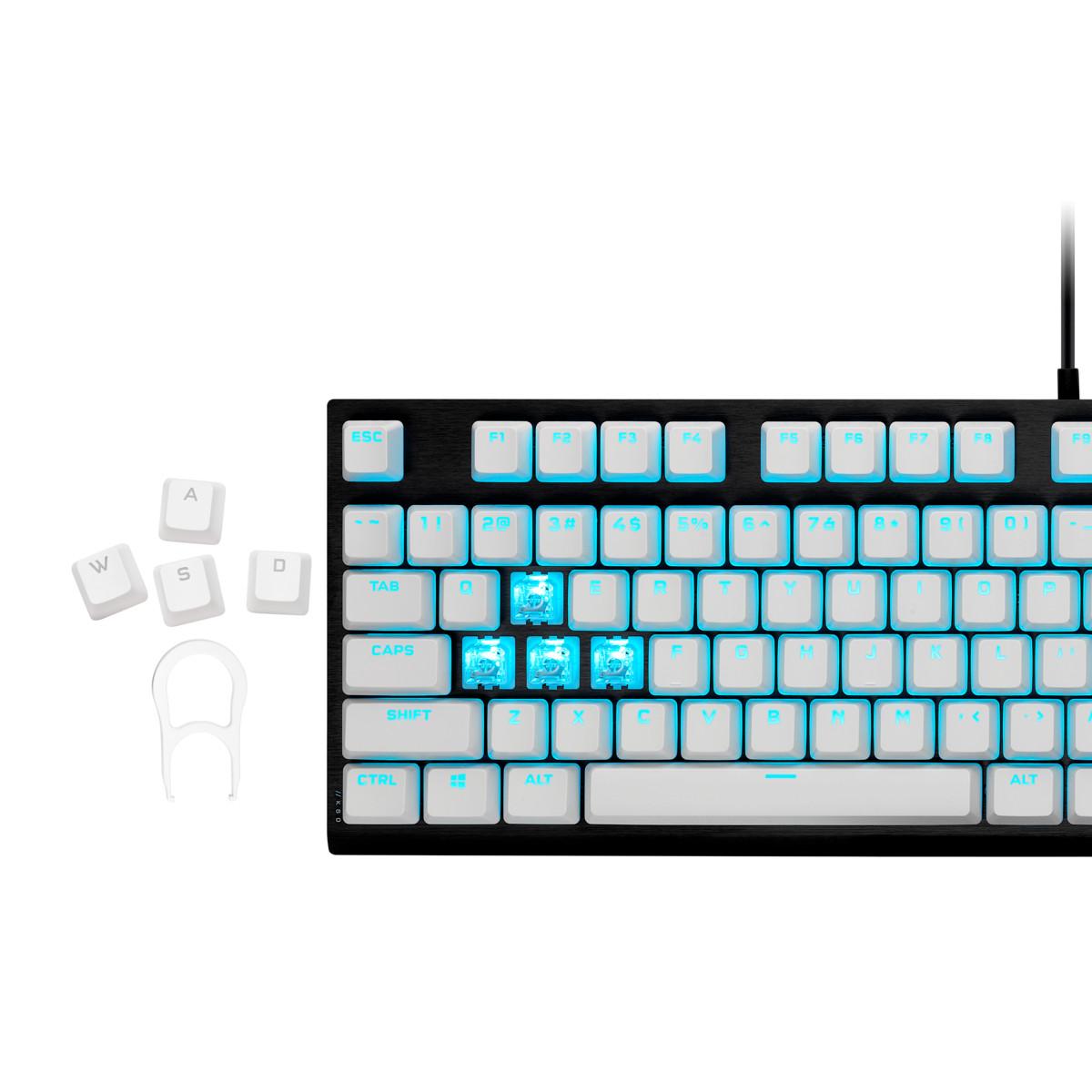 Keycap Corsair PBT Double-Shot PRO Arctis White - Hàng Chính Hãng