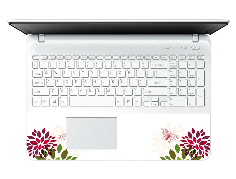Miếng Dán Decal Dành Cho Laptop Mẫu Hoa Văn LTHV-141 cỡ 13 inch