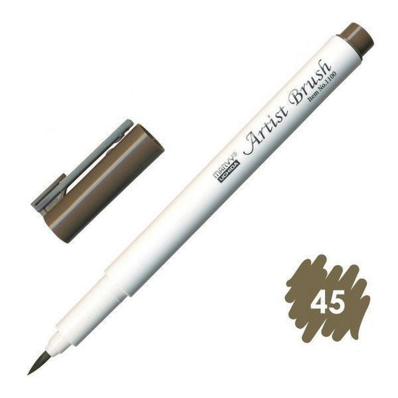 Bút lông đầu cọ viết calligraphy Marvy Artist Brush 1100 - Sepia (45)
