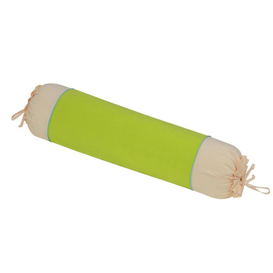 Gối ôm 30x90 cm cotton xốp màu Hometex - Màu xanh cốm