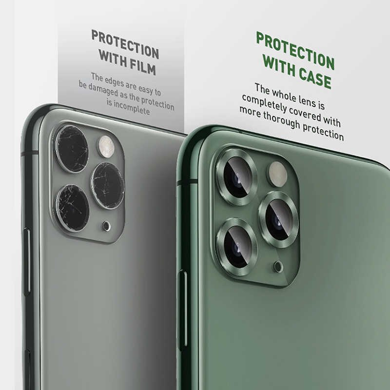 Bộ ốp viền kim loại tích hợp cường lực chống trầy Camera cho iPhone 11 6.1 inch hiệu Baseus Alloy Protection Ring Lens Film(độ cứng 9H, chống trầy, chống chụi & vân tay, bảo vệ toàn diện, mỏng 0.4mm) - Hàng nhập khẩu