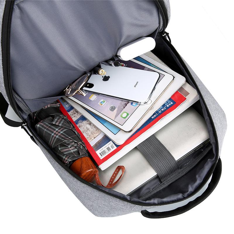 Balo công sở, đi làm, đựng laptop, máy tính 13 inch, 14 inch, 15.6 inch, chống sốc dành cho người đi làm, sinh viên, học sinh cao cấp - Màu ghi