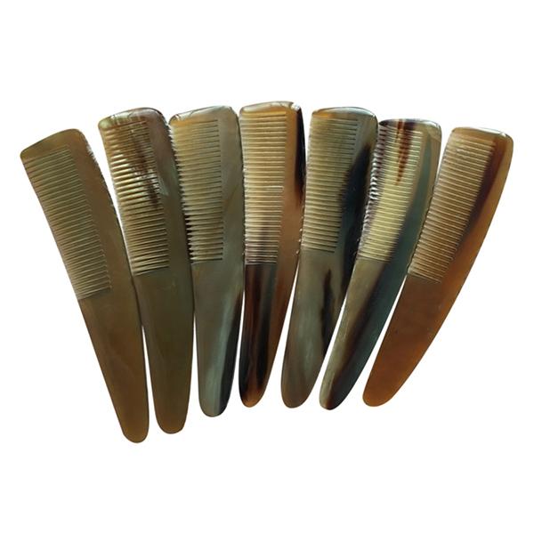 Lược Chải Tóc Sừng Trâu L43 Chuôi Chéo (Dài 19,5cm x 4cm)