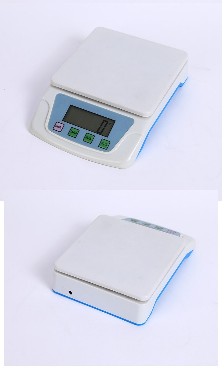 Cân điện tử 6kg/0.5g (Tặng 03 nút kẹp cao su giữ dây điện)