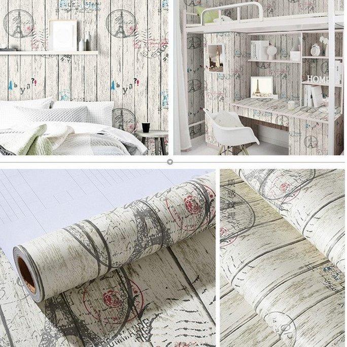 5m giấy decal sọc gỗ DTL63(60x500cm)