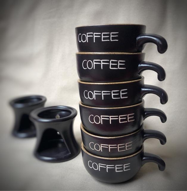 Bếp hâm nóng cafe + TẶNG nến viên
