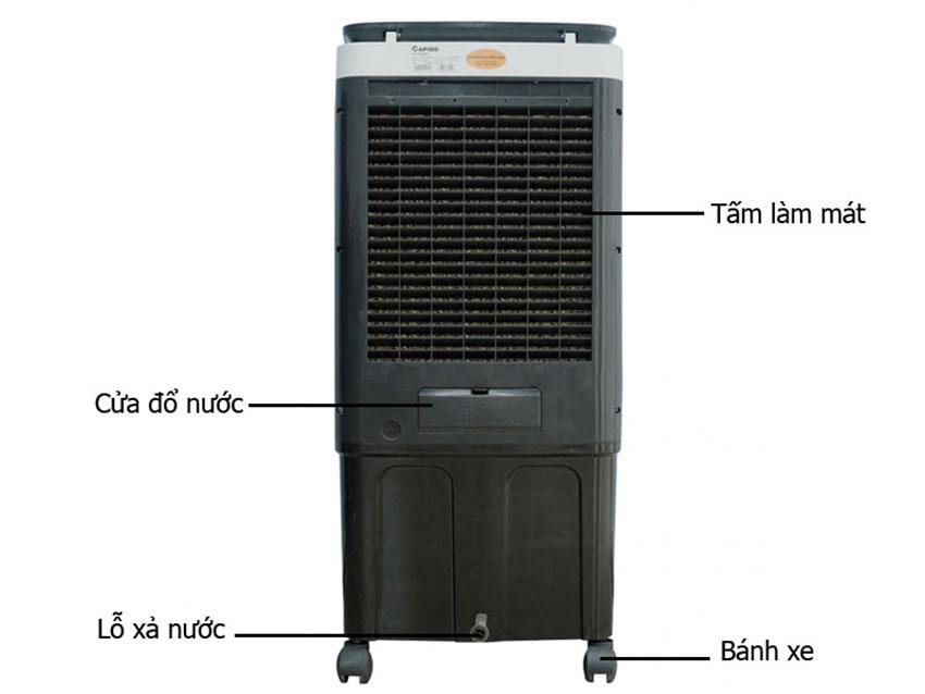 Quạt điều hòa không khí Rapido TURBO 6000D (Điều khiển từ xa) (Có thể lắp thêm tấm lọc nano) - Hàng Chính Hãng