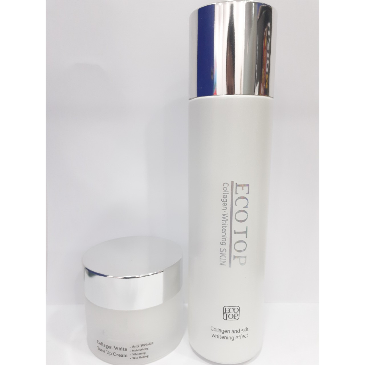 Combo Kem dưỡng da trắng da Collagen Ecotop + Nước hoa hồng Collagen trắng da Ecotop ( tặng 1 hộp mặt nạ Jant Blanc 10 miếng )