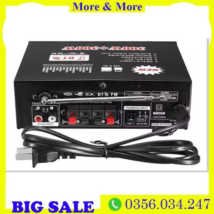 Amplifier Bluetooth FM Radio Car Home 600W   Ampli Mini Loa Amly Bluetooth BT309A 800W Âm thanh Cao Cấp  Freeship b