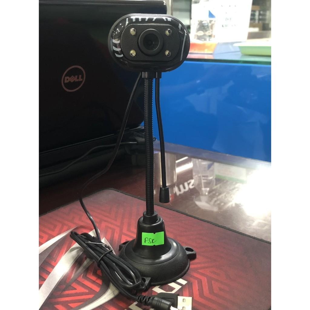 Webcam Chân Cao Có Đèn Kèm Mic