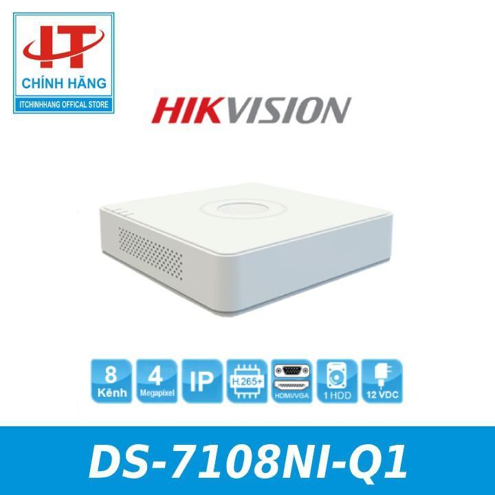 Đầu ghi hình camera IP 8 kênh HIKVISION DS-7108NI-Q1 - HÀNG CHÍNH HÃNG