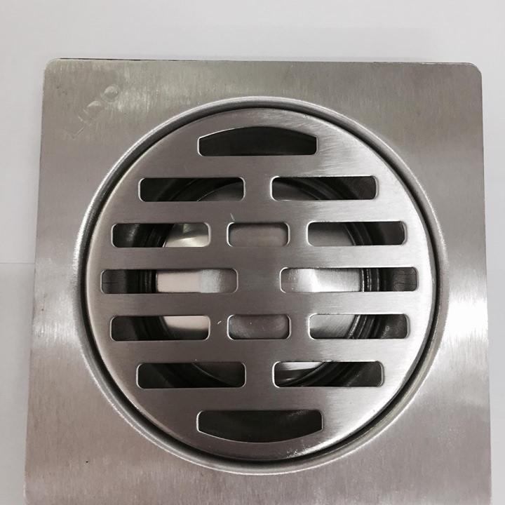 Phễu Thoát Sàn Lido Inox304 - 150x150x40mm ống 60 90 đầu nong - lọc rác chống hôi và tràn khí – dày