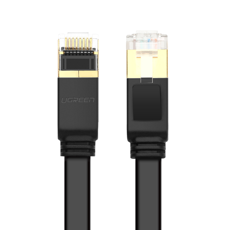 Cáp mạng 2 đầu đúc Cat7 UTP Patch Cords dạng dẹt - dài 5M - UGREEN NW106 - 11263 - Hàng Chính Hãng
