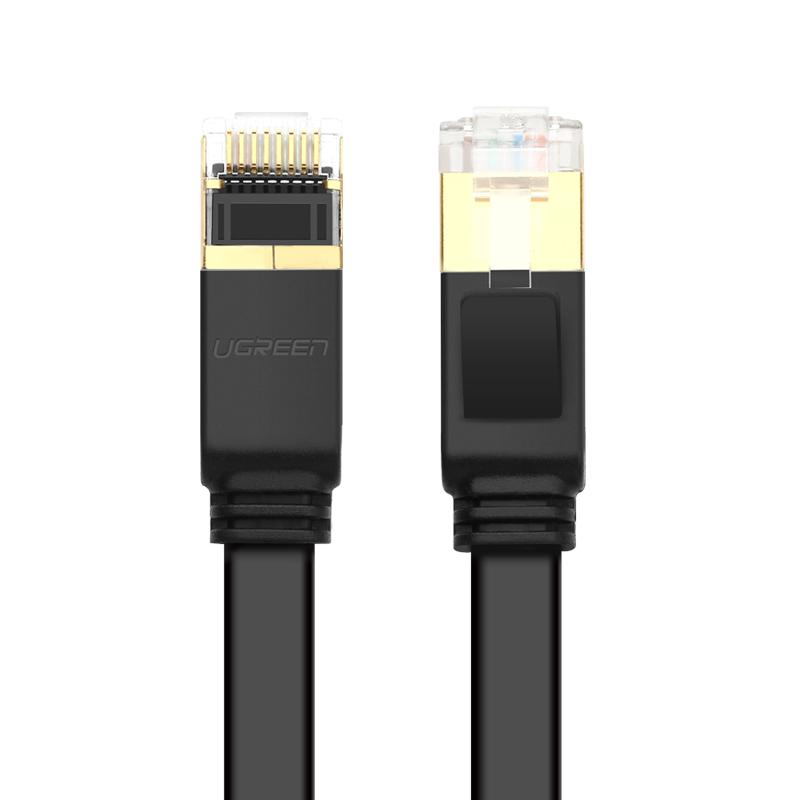 Cáp mạng 2 đầu đúc Cat7 UTP Patch Cords dạng dẹt - dài 8M - UGREEN NW106 - 11264 - Hàng chính hãng