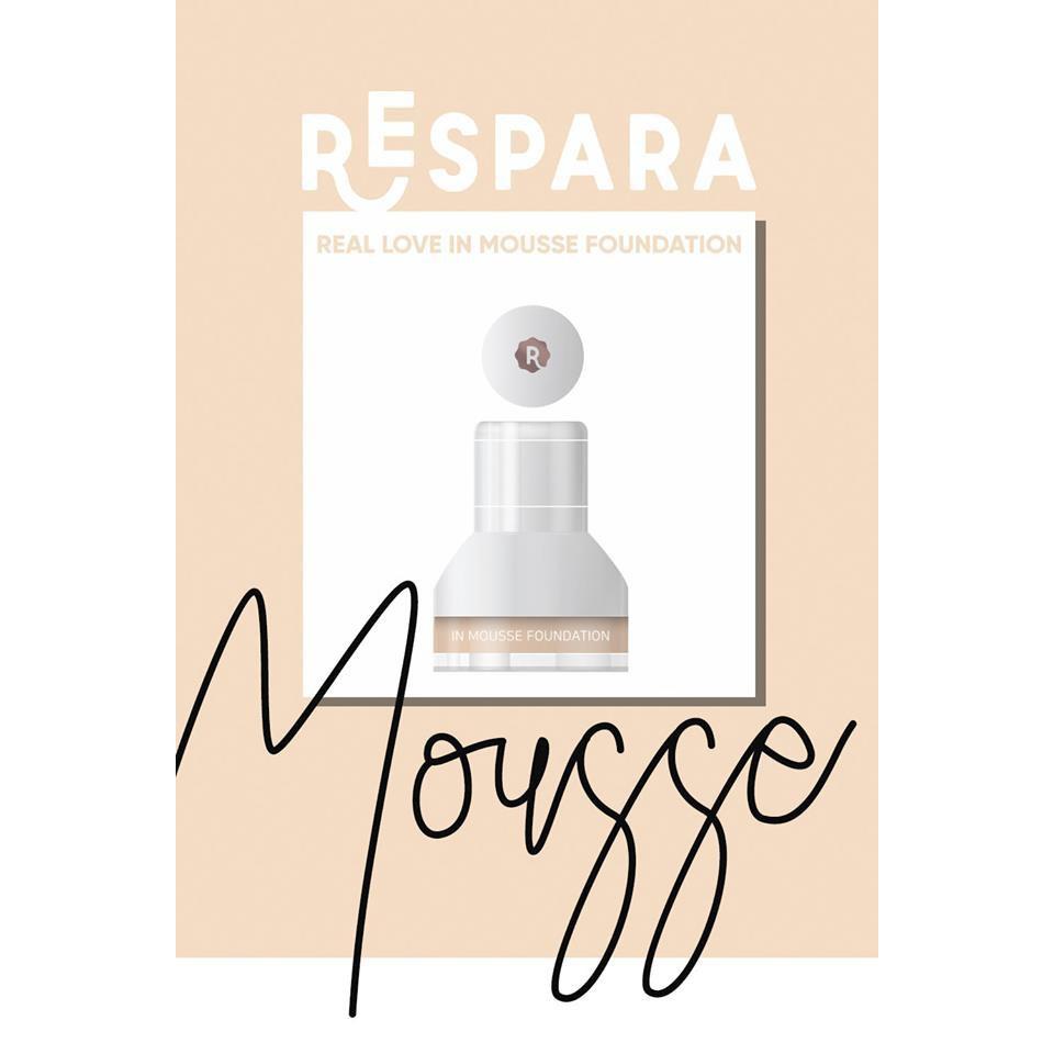Kem Nền Dạng Bọt Mướt Mịn RESPARA Mousse Foundation SPF50+ PA++
