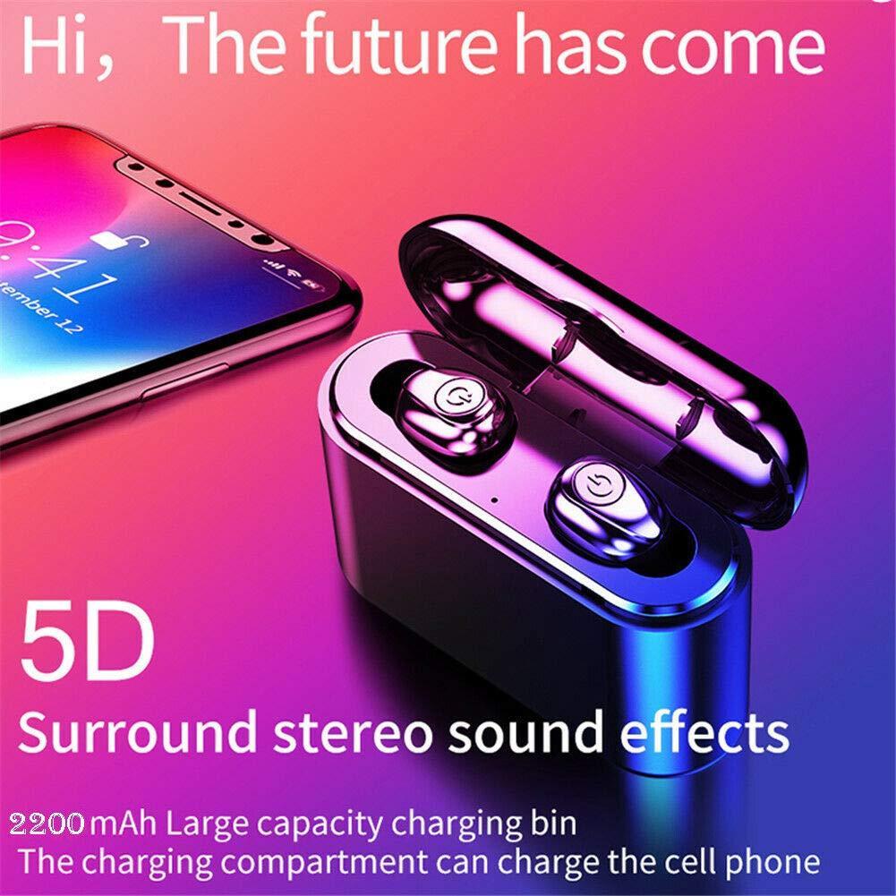 X8 TWS Bluetooth 5.0 5D Không Dây Bluetooth In-Ear Headphone  TẶNG kèm DOCK Sạc 2200 mAh- hàng chính hãng