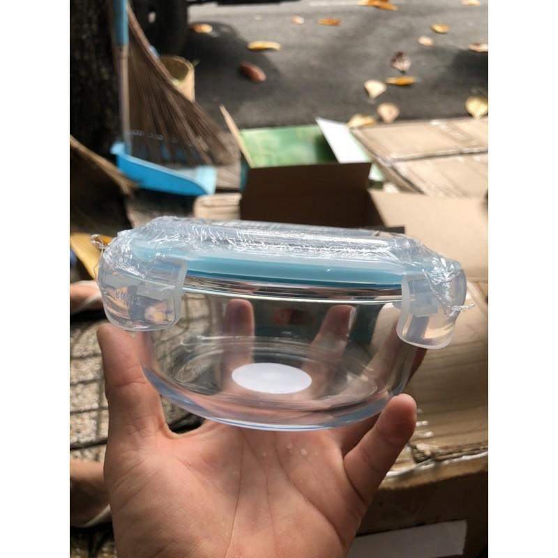 Hộp thủy tinh hình tròn đựng cơm, đồ ăn đa năng ( 620ml )
