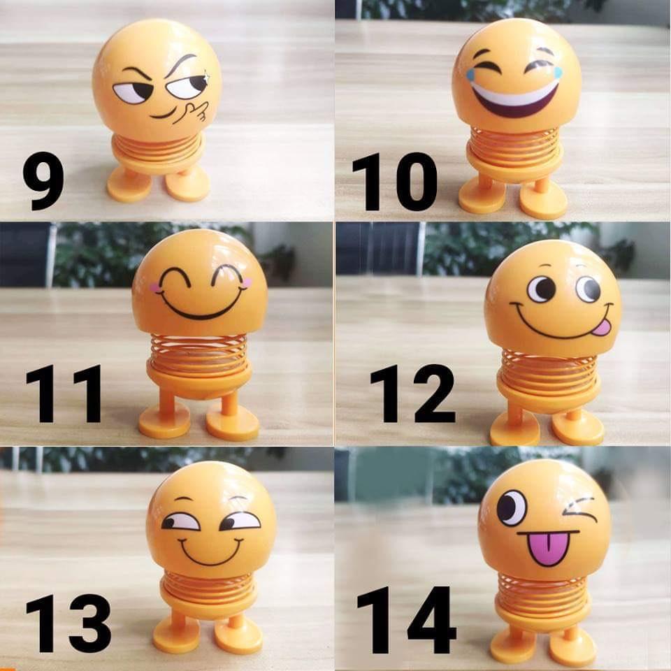 Thú nhún Emoji con lắc lò xo trang trí (Giao mẫu ngẫu nhiên)