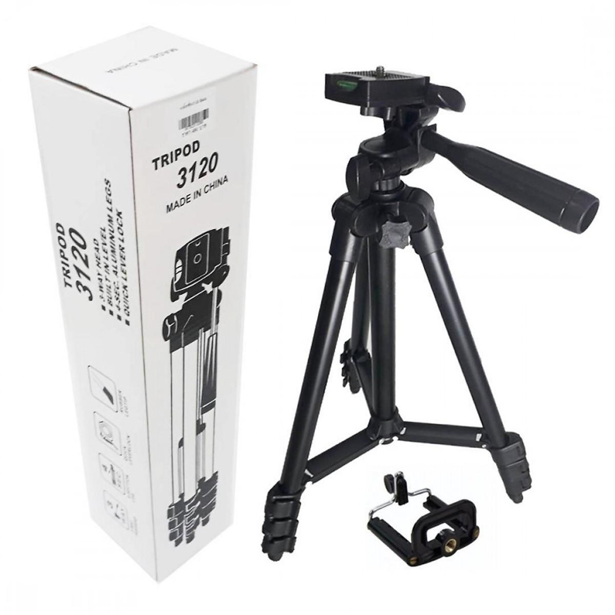 Giá đỡ điện thoại 3 chân 3120 nhỏ gọn, dễ sử dụng để thỏa niềm đam mê chụp ảnh tặng kẹp điện thoại, cáp sạc ANDROID cho điện thoại - lk1984