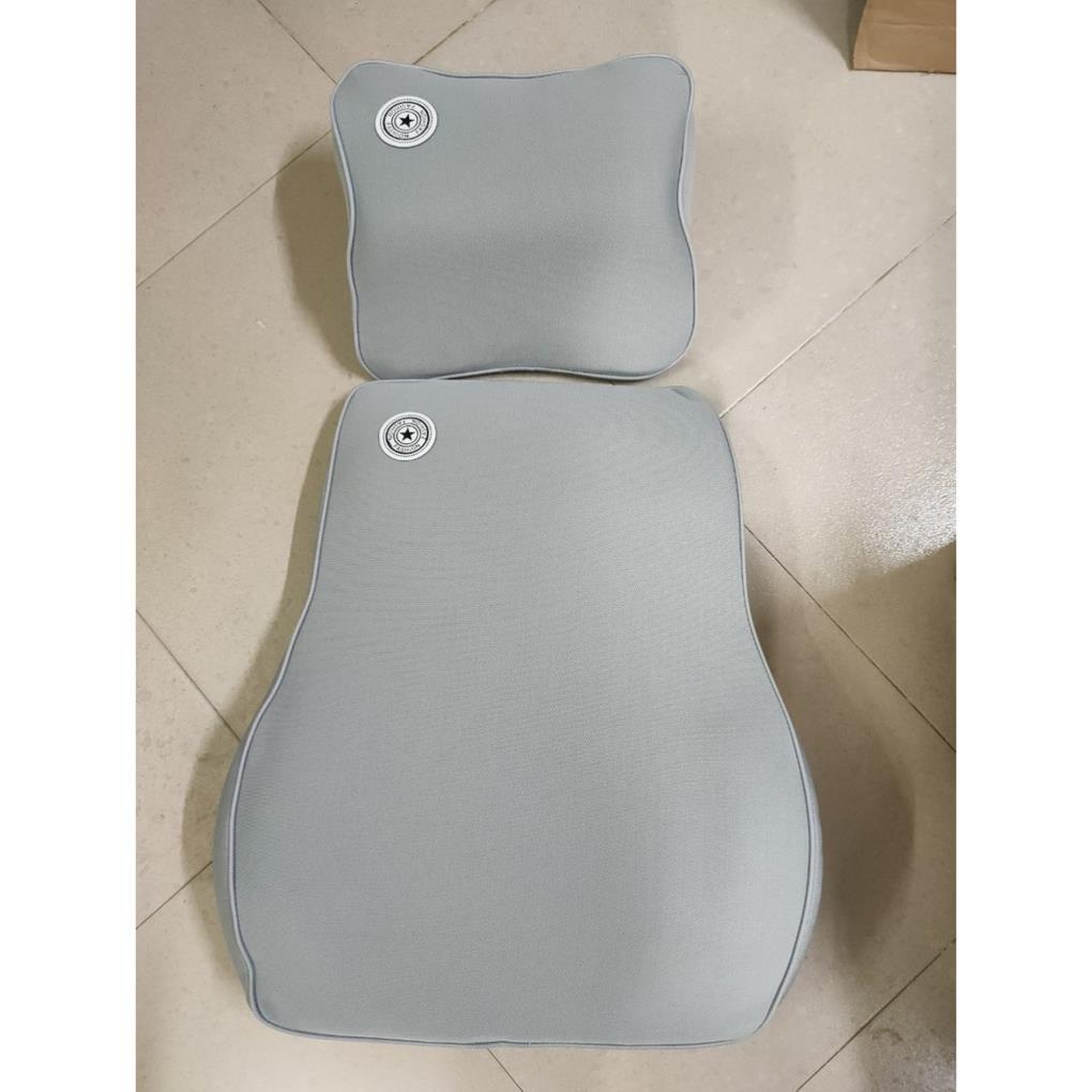 Bộ tựa đầu tựa lưng cao su non nguyên khối - bộ gối đầu tựa lưng trên ô tô