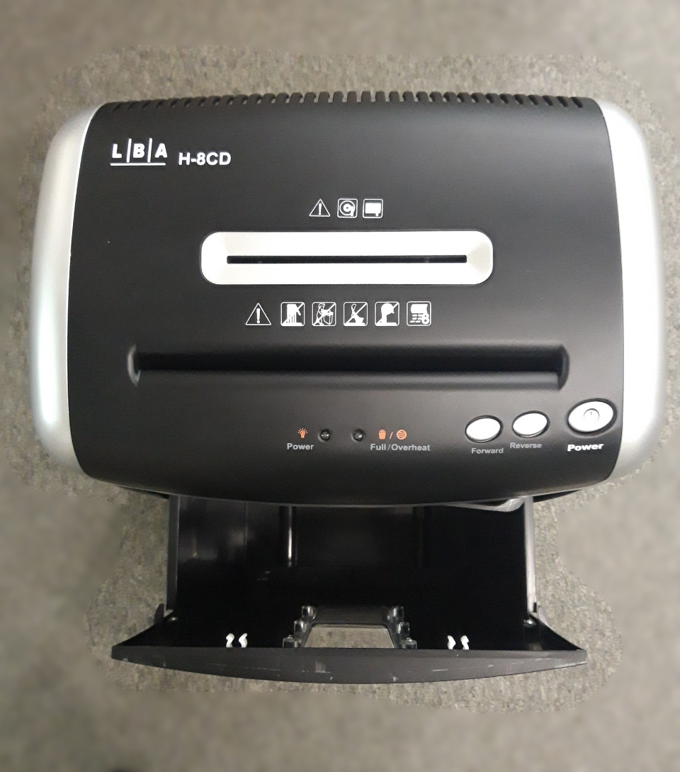 Máy hủy giấy LBA H-8CD (Hàng chính hãng)