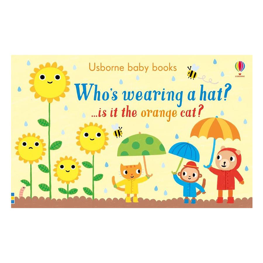 Usborne Who's Wearing a Hat? ...is it the orange cat?