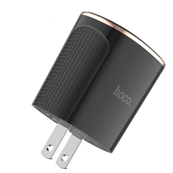 Củ sạc nhanh 18W tích hợp 2 cổng USB Quick Charge 3.0 nhãn hiệu Hoco C60 - Hàng chính hãng