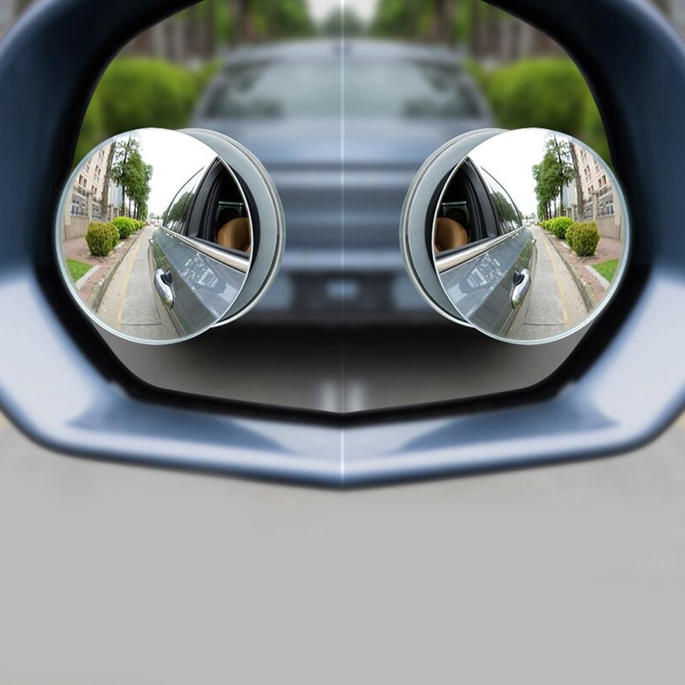 Bộ 2 Gương Lồi Tràn Viền Xoay 360 độ Gắn Cho Kính Gương Chiếu Hậu Tránh Điểm Mù Cho Xe Hơi, Xe Ô tô - Hàng Chính Hãng
