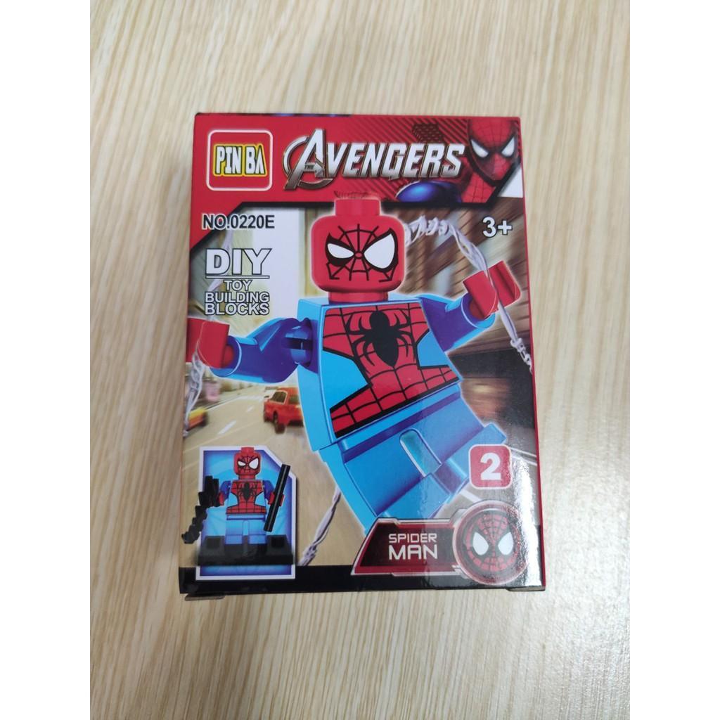Combo 4 bộ đồ chơi xếp hình siêu nhân cho bé 0220E_1 OK0023
