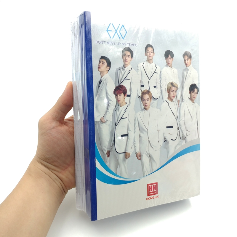 Bộ 10 Vở South Star Kpop 4 Ôly Vuông (96 Trang) - 0752 - Mẫu 2 - EXO