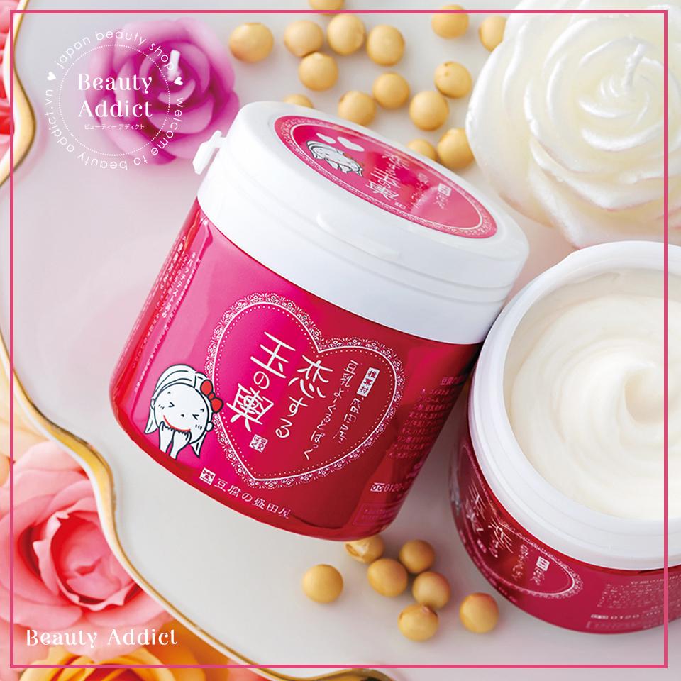 Mặt Nạ Đậu Hũ Non Sữa Chua Nhật Bản Chính Hãng Tofu No Moritaya Face Pack Hương Hoa Hồng, Dưỡng Ẩm Sâu, Làm Trắng Da, Chống Lão Hóa