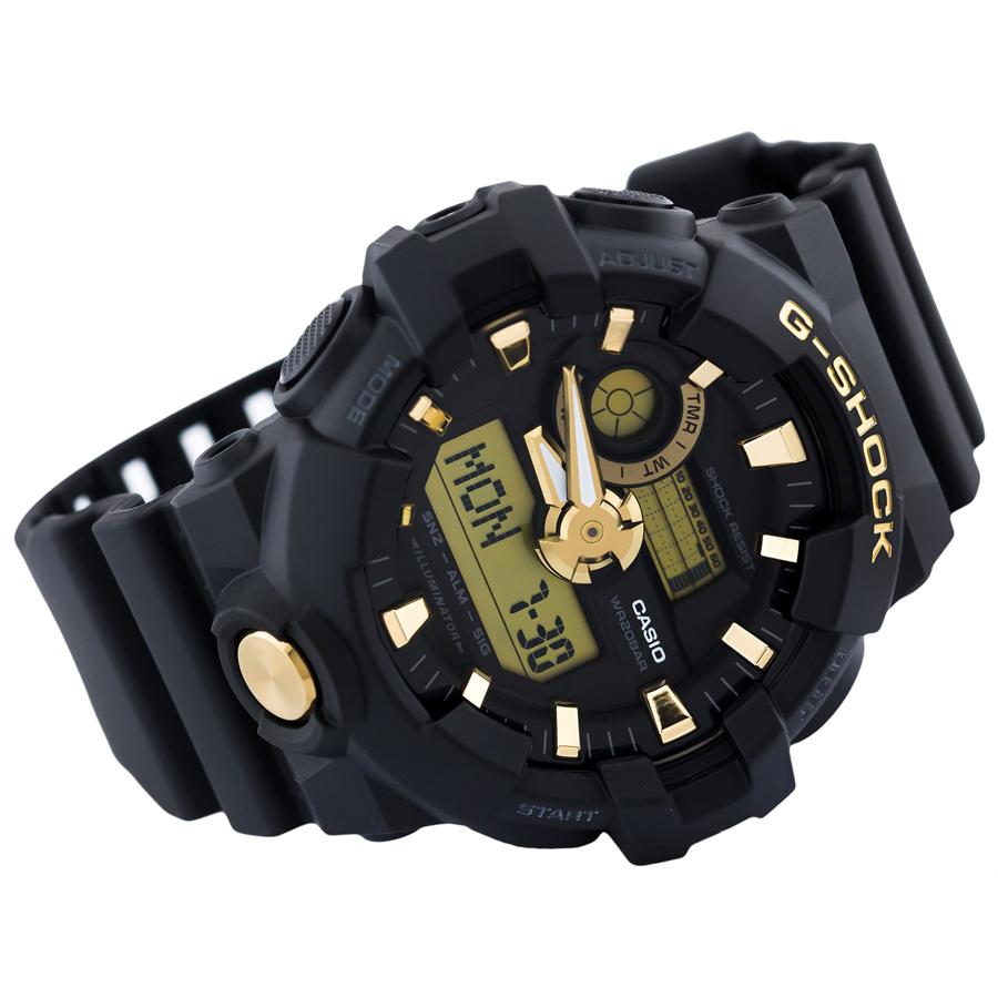 Đồng hồ nam dây nhựa Casio G-Shock chính hãng GA-710B-1A9DR (53mm)