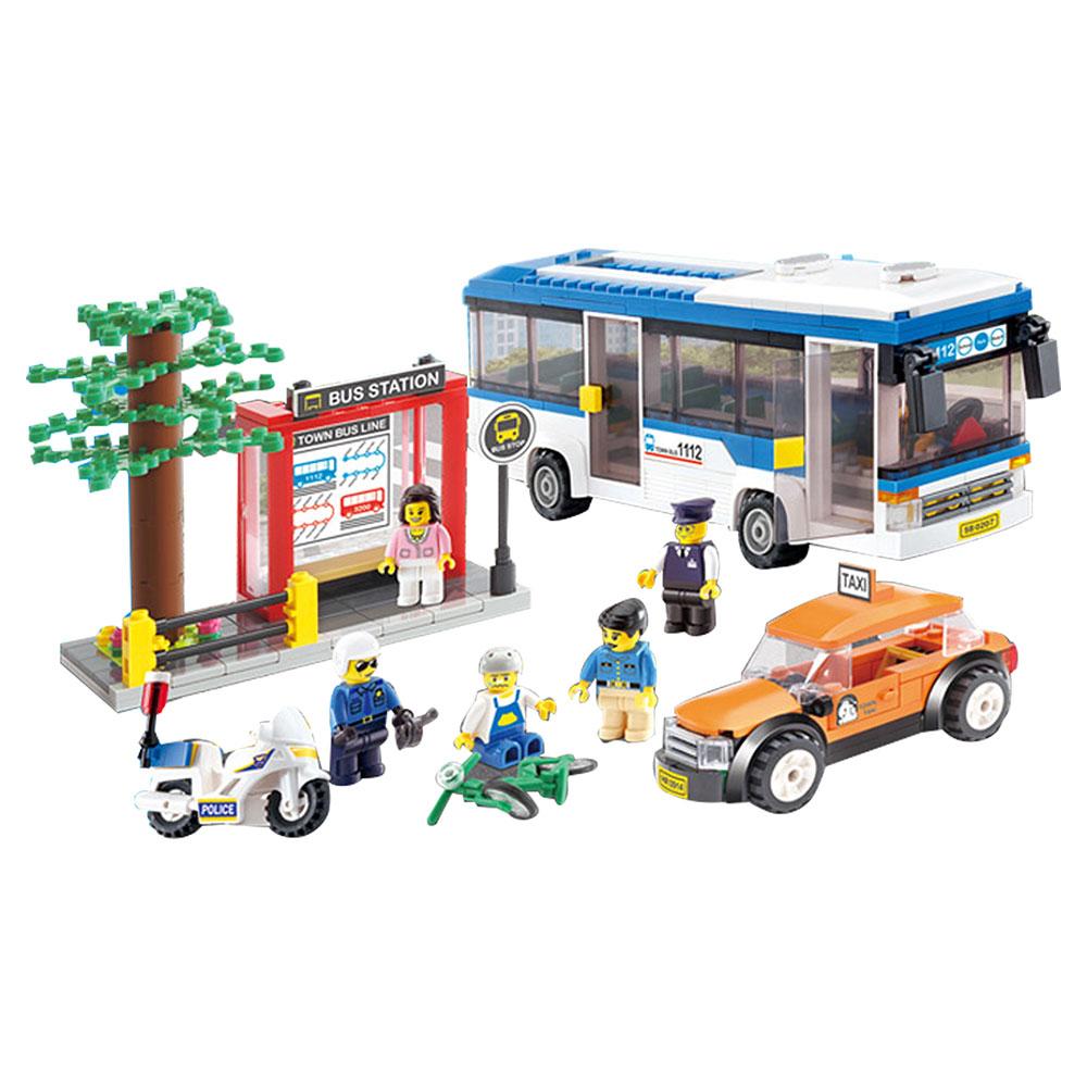 Đồ chơi lắp ráp cho trẻ em - Mô hình Giao Thông Thành Phố Oxford ST33339 Hàn Quốc 456 mảnh ghép nhựa ABS cao cấp  8 tuổi