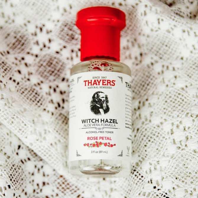 Nước hoa hồng không cồn hương hoa hồng THAYERS Witch Hazel Aloe Vera Formula Alcohol-Free Toner - Rose Petal 89ml (Mini Size)